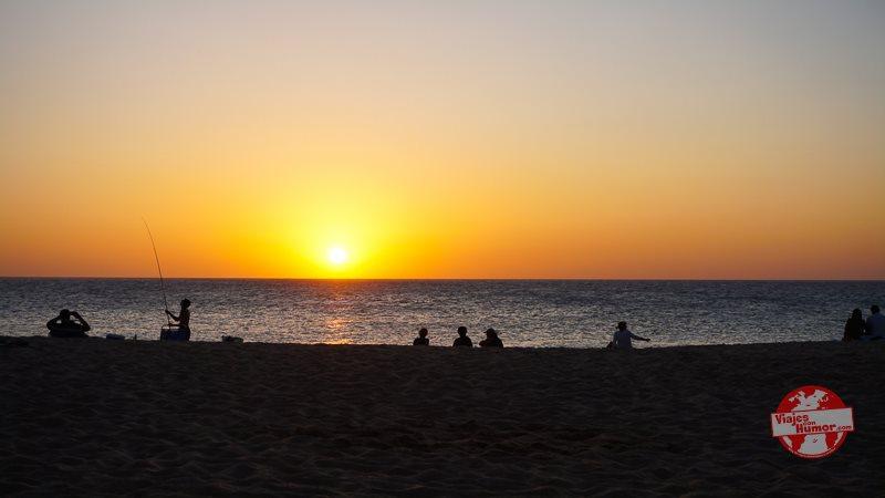 puesta de sol en caños de meca